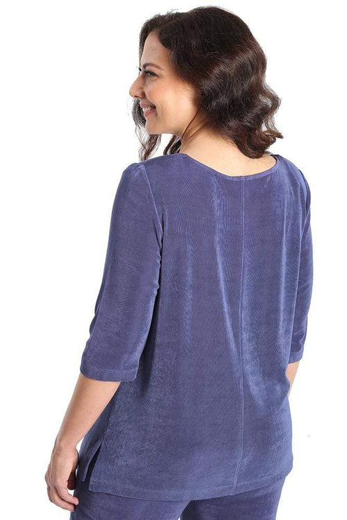 Tops Vikki Vi Classic Wisteria Deep Scoop Neck Top