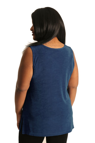 Vikki Vi Classic Marine Blue Long Shell Tunic