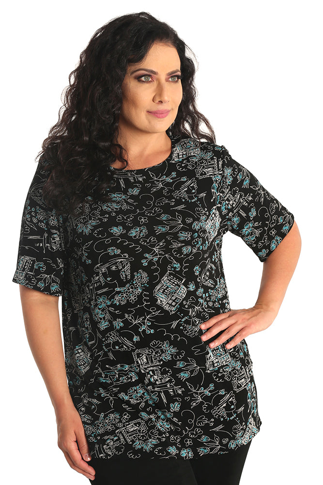 Vikki Vi Classic Whimsy Short Sleeve Tunic