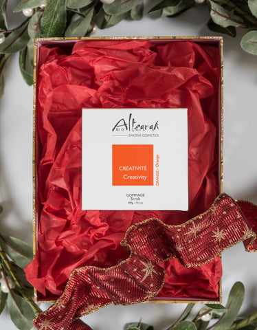 Altearah Christmas Boxed Set: Orange Creativity Body Scrub