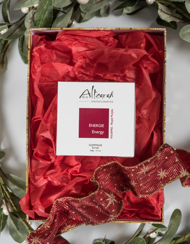 Altearah Christmas Boxed Set: Royal Purple Body Scrub