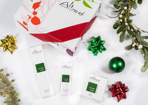 Altearah Christmas Boxed Set: Emerald Oxygen Body Oil, Perfume & Scrub