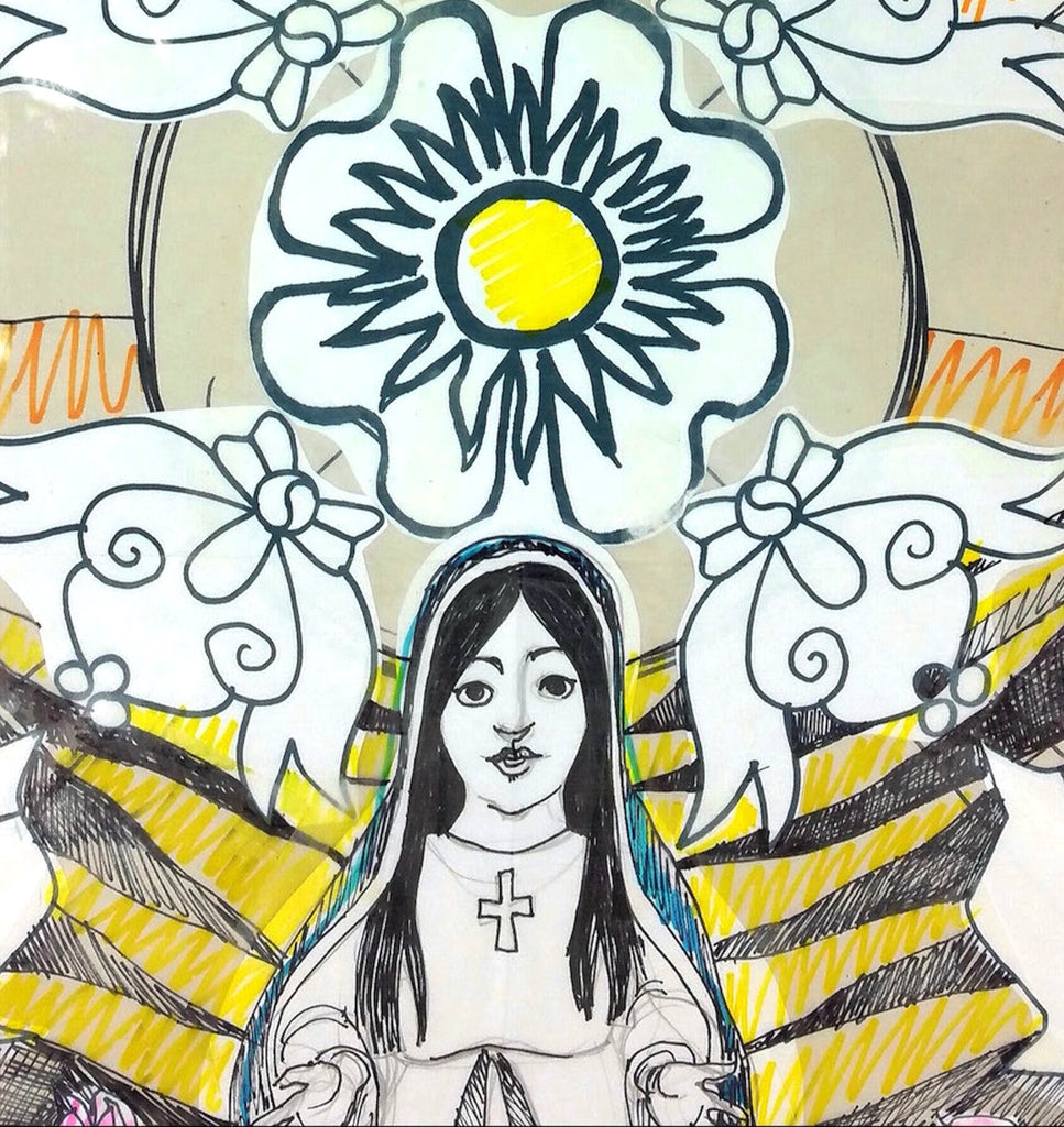 San Marcos TX Artist's Ambitious Silk Painting Celebrates Our Lady Of Guadalupe