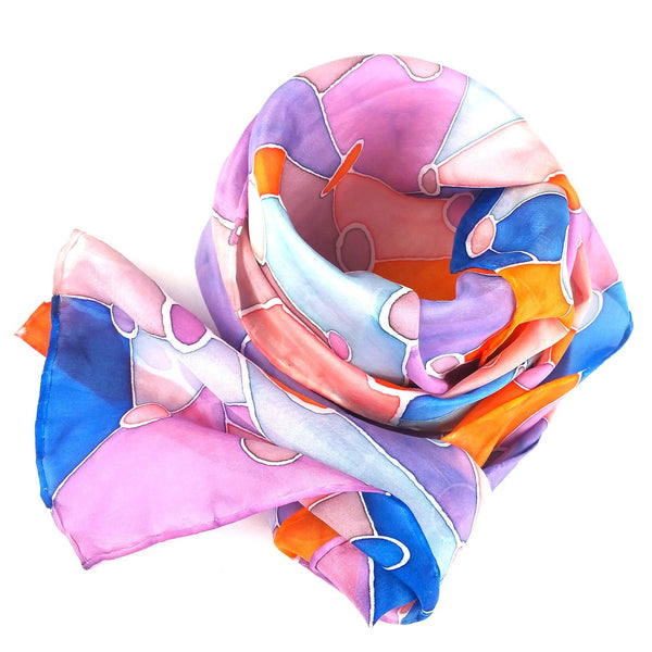 Jelly Beans - Hand-painted Silk Scarf