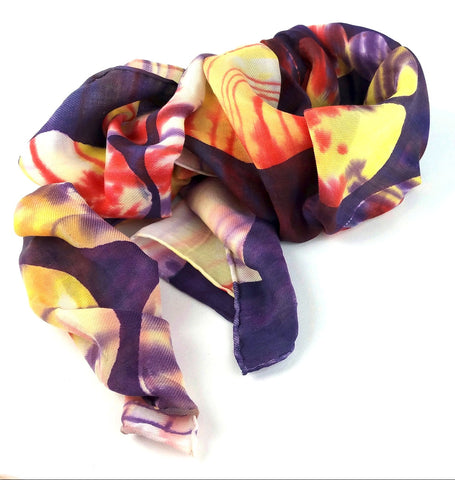 Hand-painted Silk Scarf - Planetary