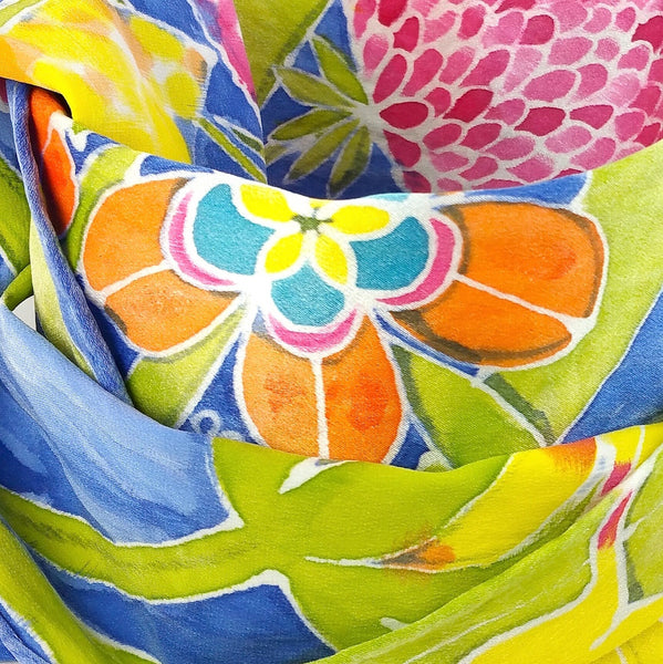 Hand-painted Silk Scarf - San Marcos Floral 2