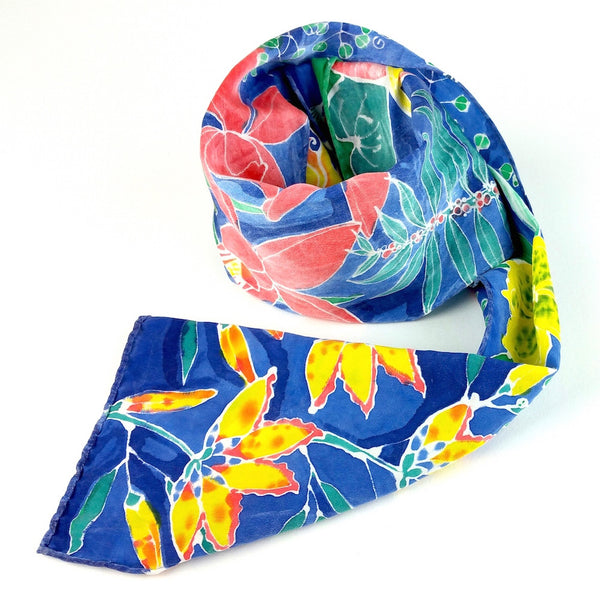 Hand-painted Silk Scarf - San Marcos Floral 3