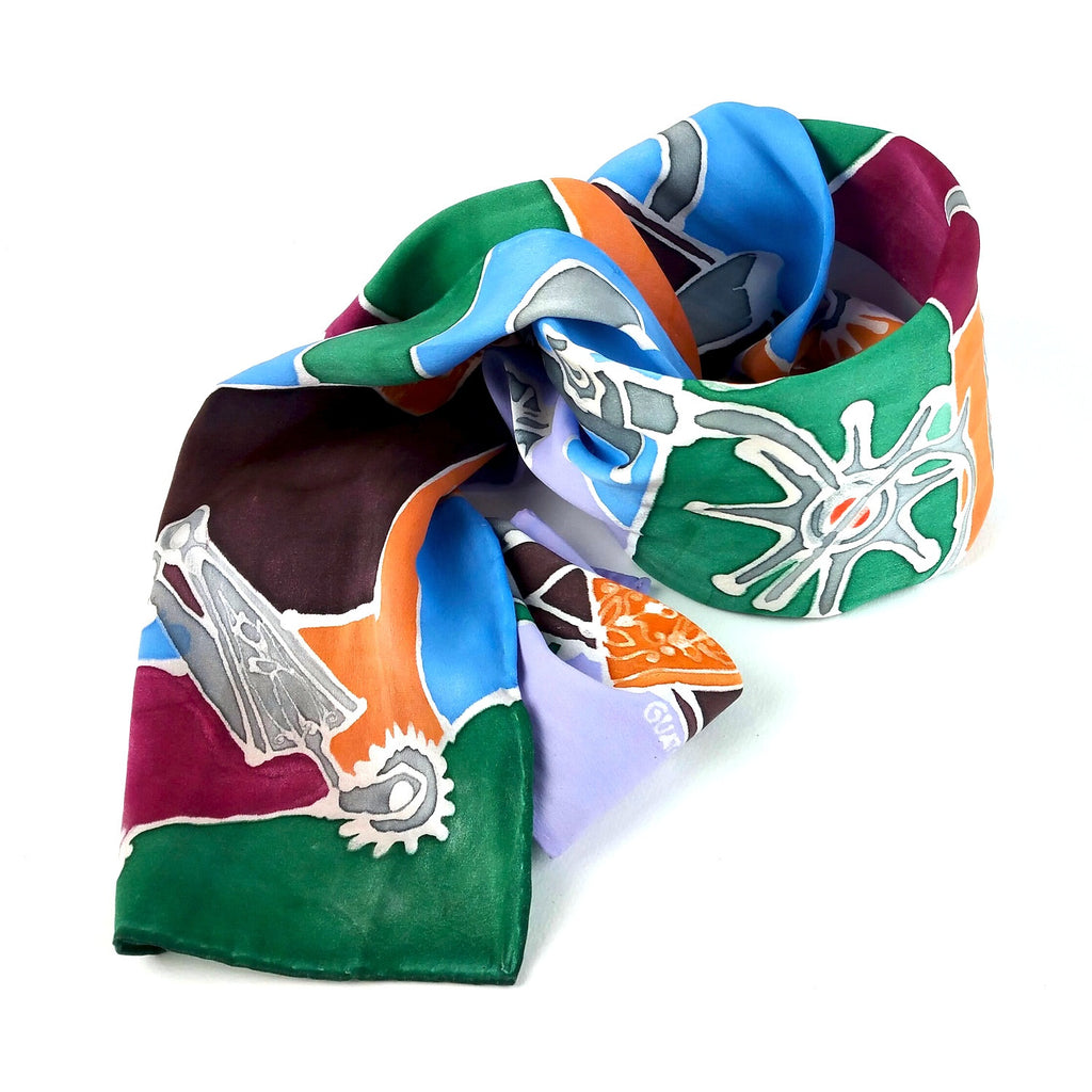 Hand-painted Silk Scarf - Spur Me On