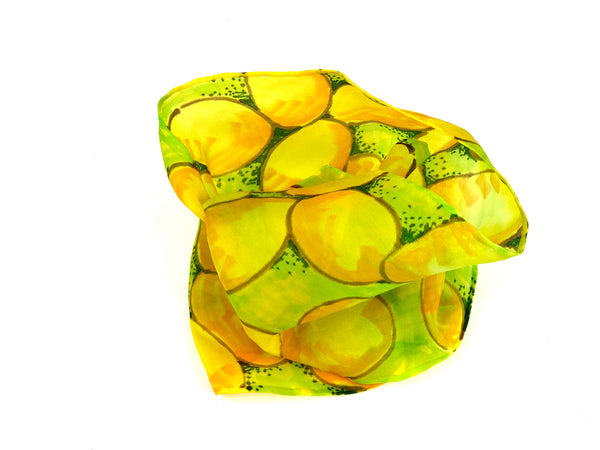 Yellow River Rocks - Silk Scarf