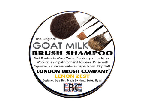 London Brush Company - Pure Goat Milk Solid Brush Shampoo: Lemon Zest