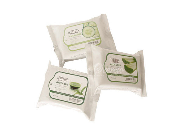 Callas - Cleansing & Make Up Remover Wipes Green Tea