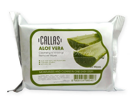 Callas - Cleansing & Make Up Remover Wipes Aloe Vera
