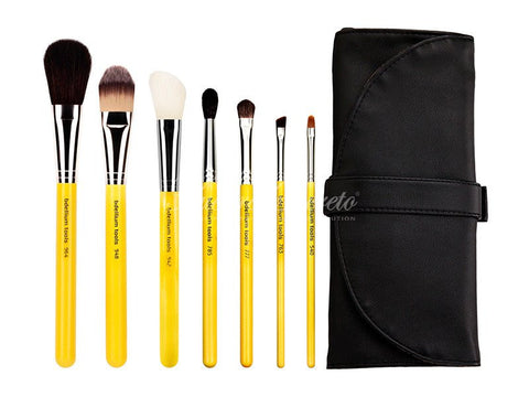 Bdellium Tools -Studio Basic 7pc. Brush Set with Roll-up Pouch Studio