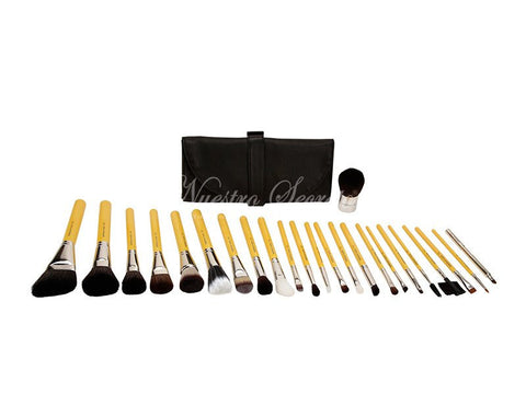 Bdellium Tools -Studio Luxury 24pc. Brush Set with Roll-up Pouch