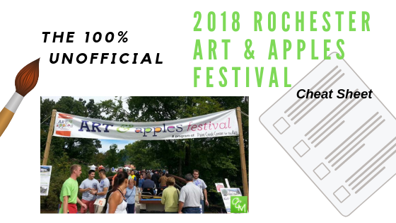 The 100% Unofficial Art and Apples Festival Cheat Sheet - DawnMiddleton.com