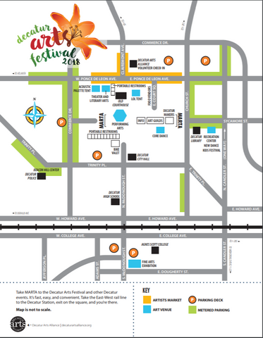 Atlanta Arts Festival Decatur Map