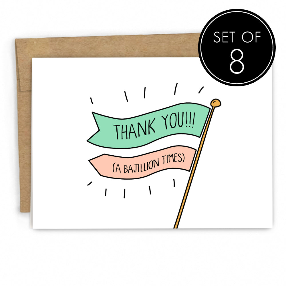 Funny Thank You Card Set by Fresh! | Boutique Greeting Cards | Wholesale Greeting Cards