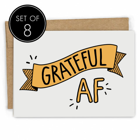 Funny Thank You Card Set by Fresh! | Handmade Greeting Cards | Wholesale Greeting Cards