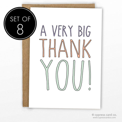 A Big Thank You Card - SET OF 8