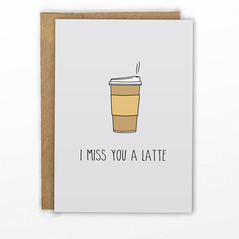 I Miss You A Latter - Funny Pun Card - Greeting Cards by Cypress Card Co.