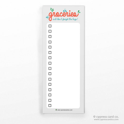 Notepad by Cypress Card Co. | Grocery List | Wholesale Boutique Cards