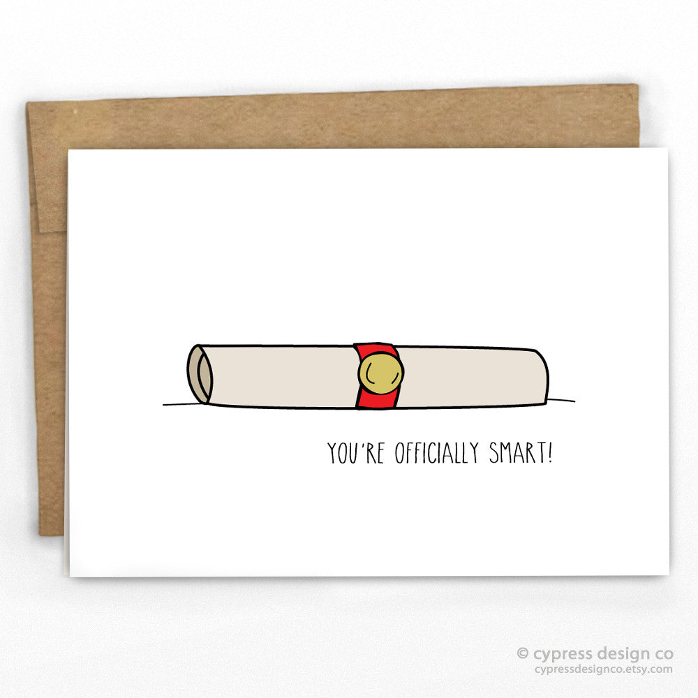 You're Officially Smart Graduation Card