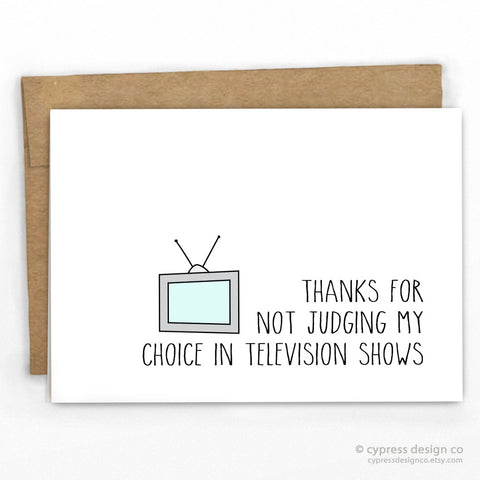 TV Shows Greeting Card By Cypress Card Co.