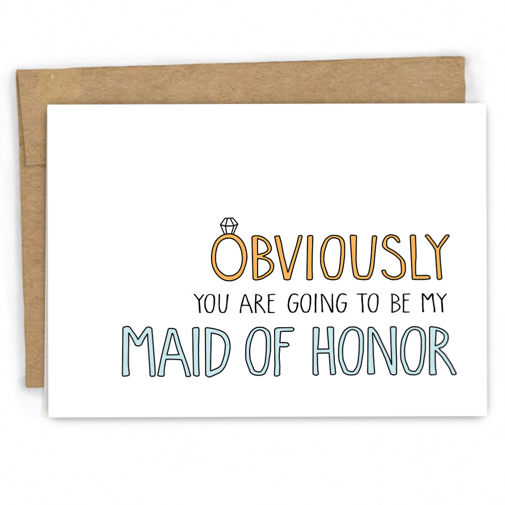 Bridal Party Card - Will you be my Maid of Honor by FRESH! | Wholesale Greeting Cards