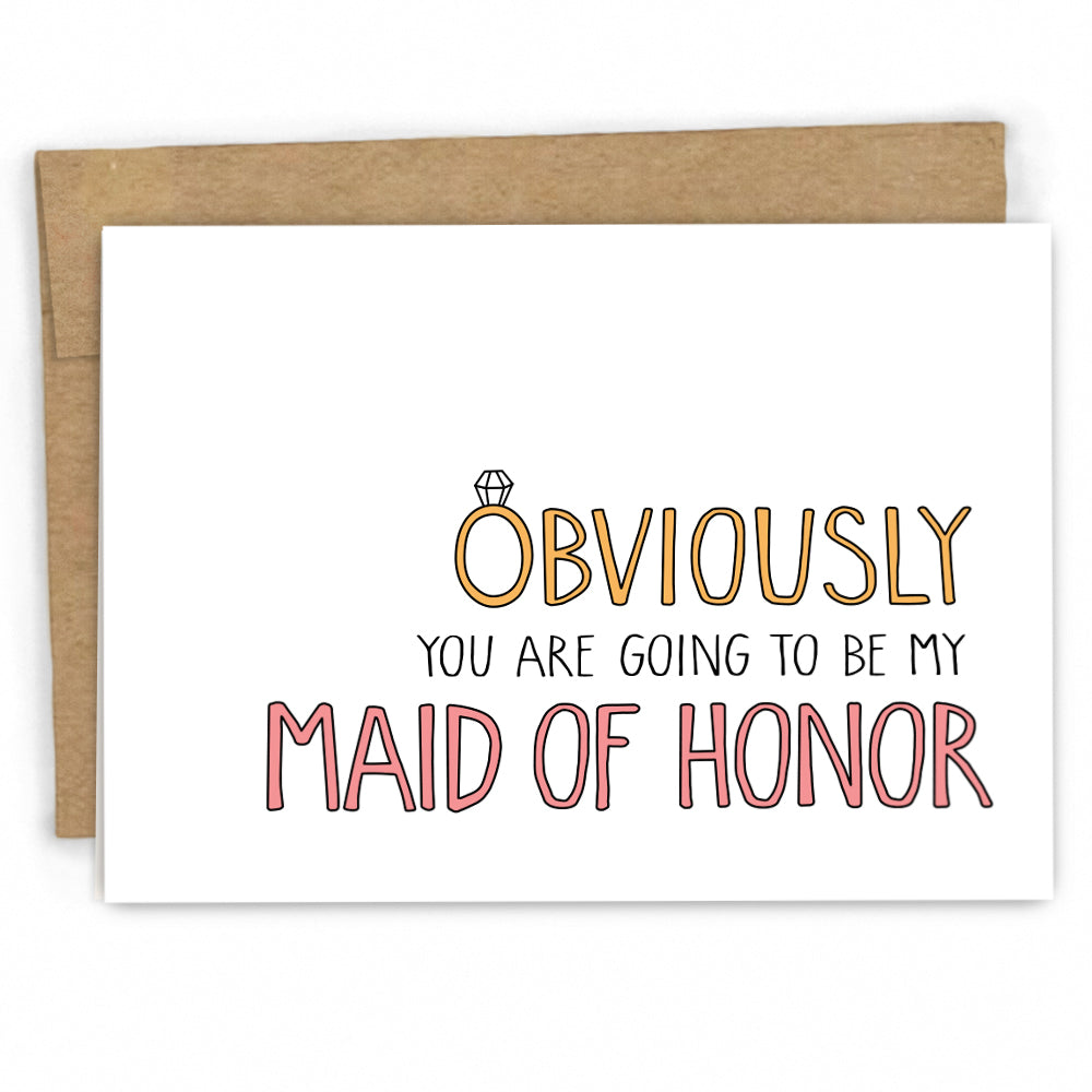 Will You Be My Maid of Honor Card by Fresh Cards | Wholesale Greeting Cards