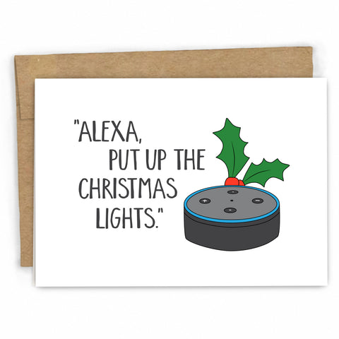 Funny Christmas Card | Alexa by FRESH! | Retail + Wholesale Greeting Cards