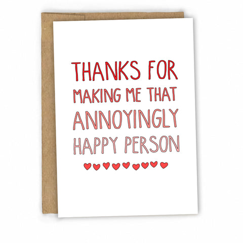 Funny Love Card | Funny Valentines Card | Card for Husband