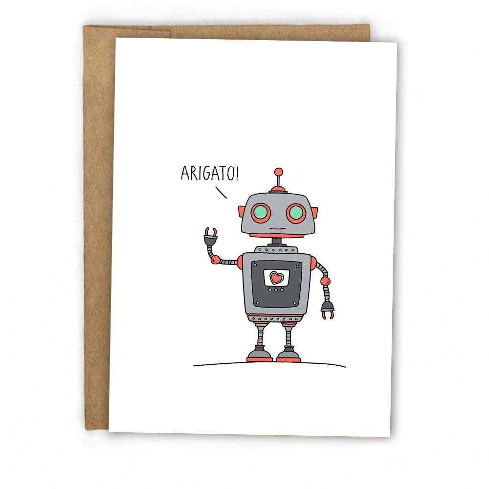 Fun Robot Thank You Card by Fresh! | Boutique Greeting Cards | Wholesale Greeting Cards