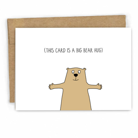 Sympathy Card | Empathy Card | Bear Hug by FRESH! | Retail + Wholesale Greeting Cards