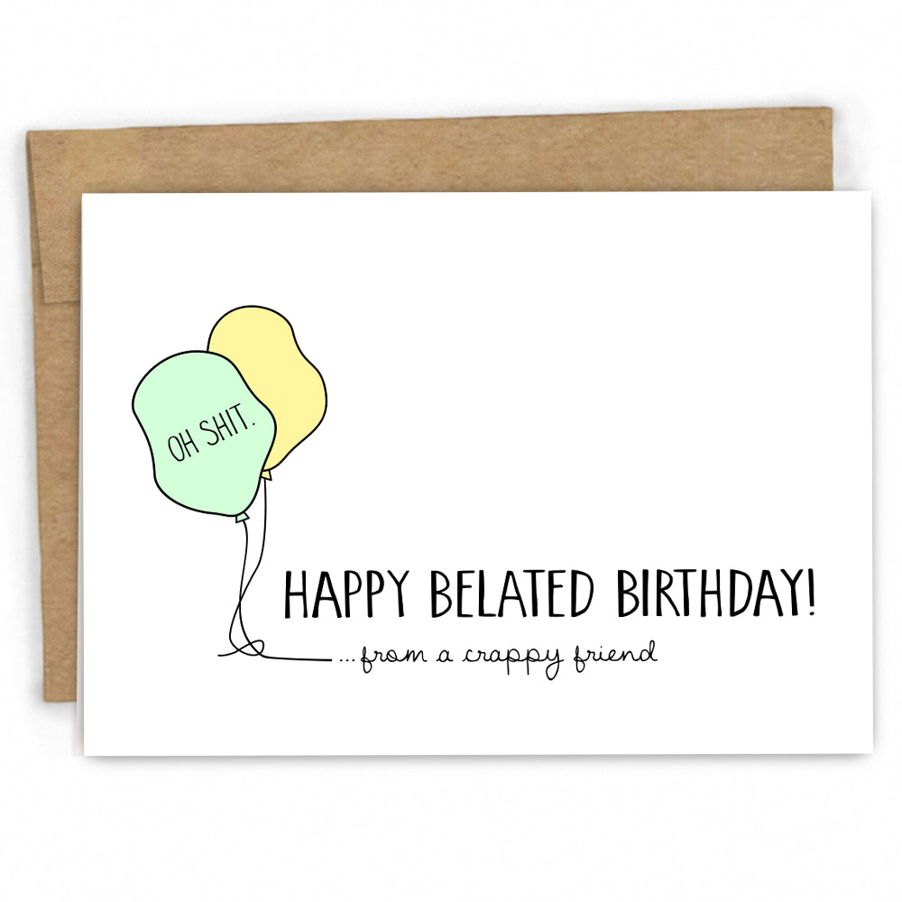 Funny Belated Birthday Card By Fresh! Card Co. | Wholesale Retail Cards
