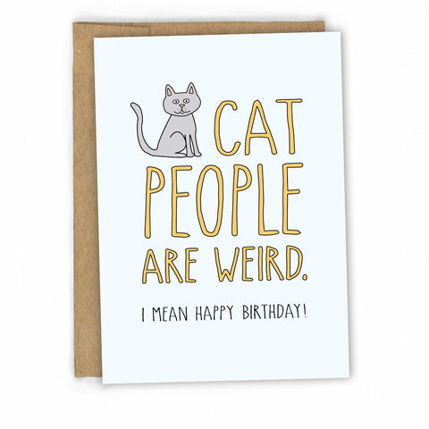 Funny Birthday Card for Cat People by Fresh! - Wholesale Greeting Cards - Boutique Greeting Cards