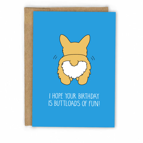 Corgi Birthday Card by FRESH! | Retail + Wholesale Greeting Cards