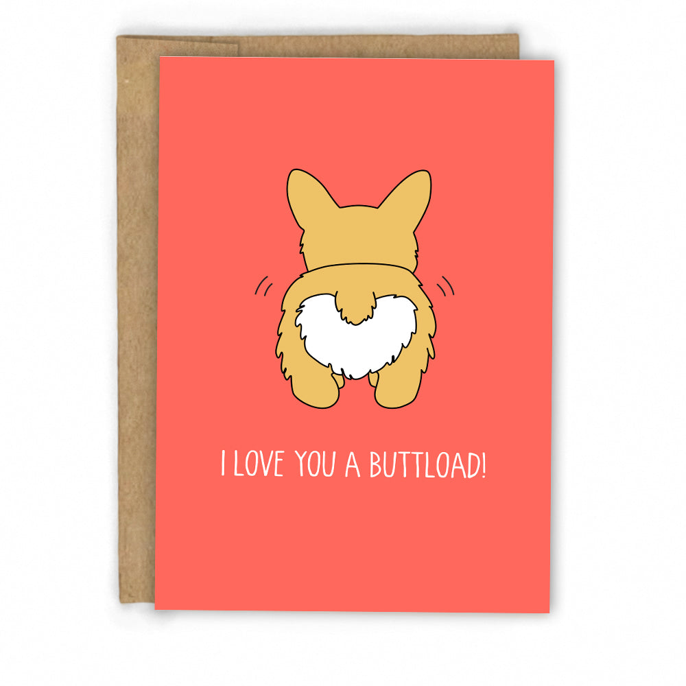 Corgi Love Card | Friendship Card by Fresh! | Retail + Wholesale Greeting Cards