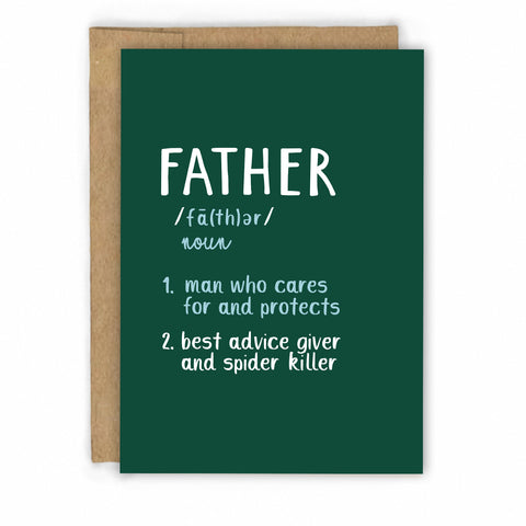 Funny Fathers Day Card | Dad Definition by Fresh! | Retail + Wholesale Greeting Cards