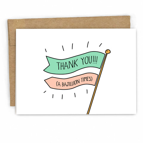 Cute Thank You Card by freshcardco.com