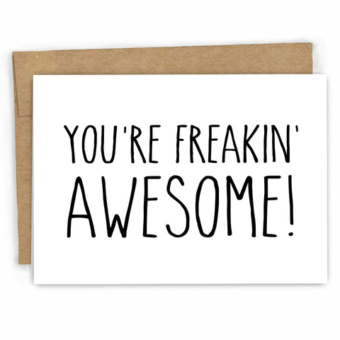 Funny Thank You Card By FRESH! | www.freshcardco.com