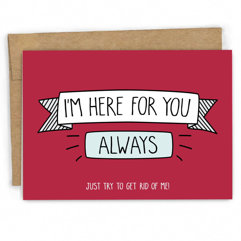 Sympathy Card | Empathy Card |Here For You by FRESH! | Retail + Wholesale Greeting Cards