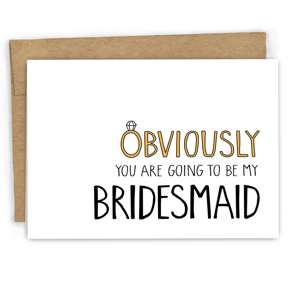 Bridal Party Card - Will You Be my Bridesmaid Card by FRESH! Cards | Wholesale Greeting Cards