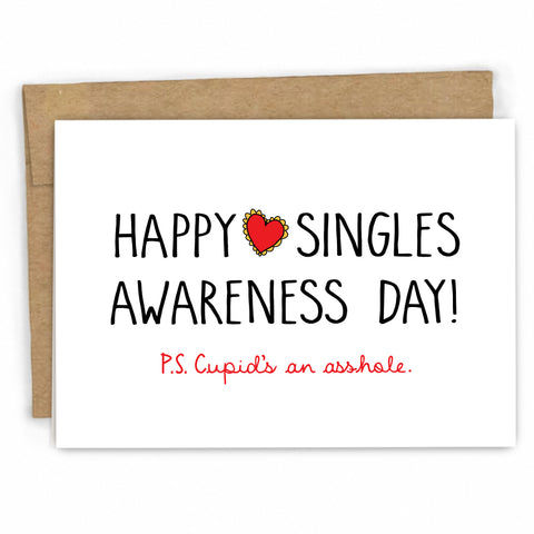 Funny Valentines Day Card | Singles Awareness Day