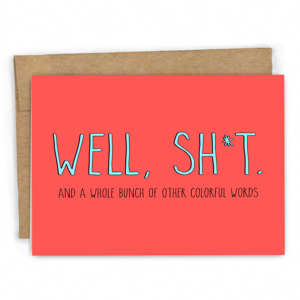 Sympathy Card | Empathy Card | Colorful Words by FRESH! | Retail + Wholesale Greeting Cards