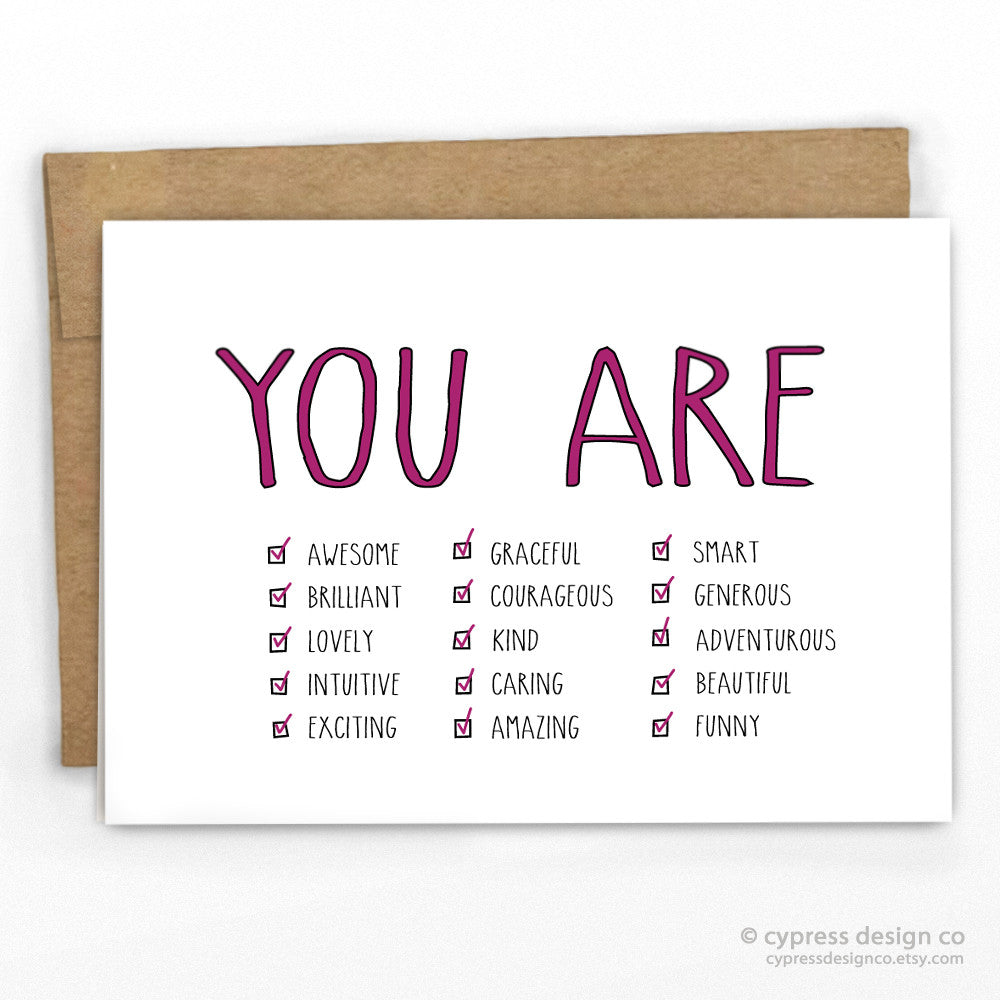 You Are...Perfect Card