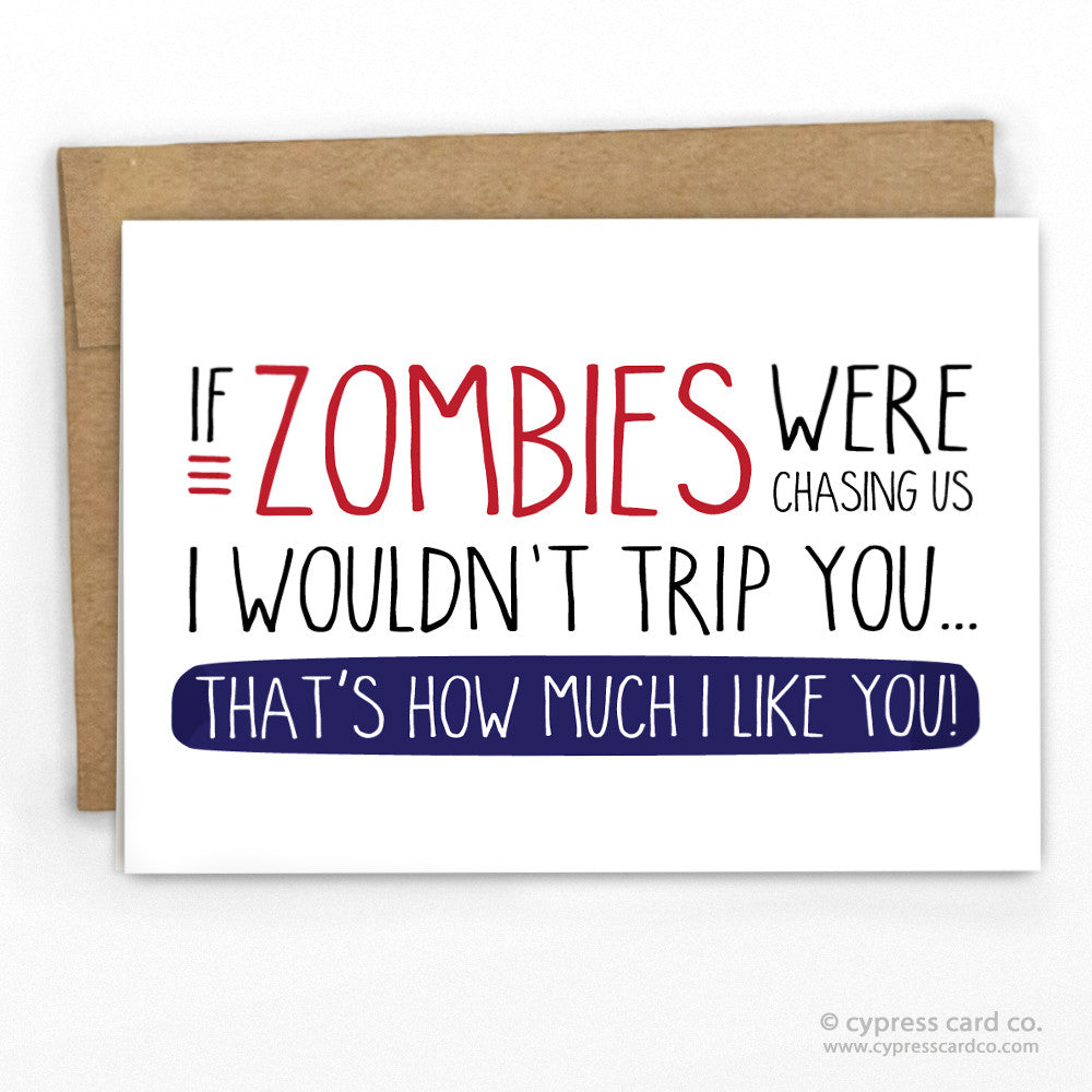Funny Zombie Card by Cypress Card Co | wholesale greeting cards