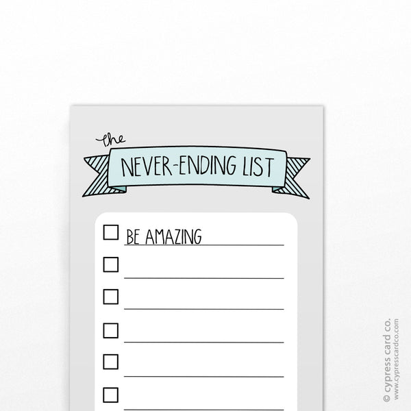 Notepad - The Never-Ending List!