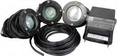 Pond Force Fiberglass LED 3 Light Kit - 5.4 W each