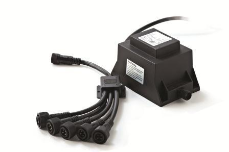 ATLANTIC WATER GARDENS TRANSFORMER WITH 4 WAY SPLITTER