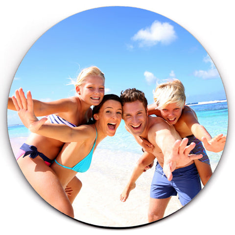Single HD SuperClear Drink Coasters - PERSONALISED Photo Picture Logo Image